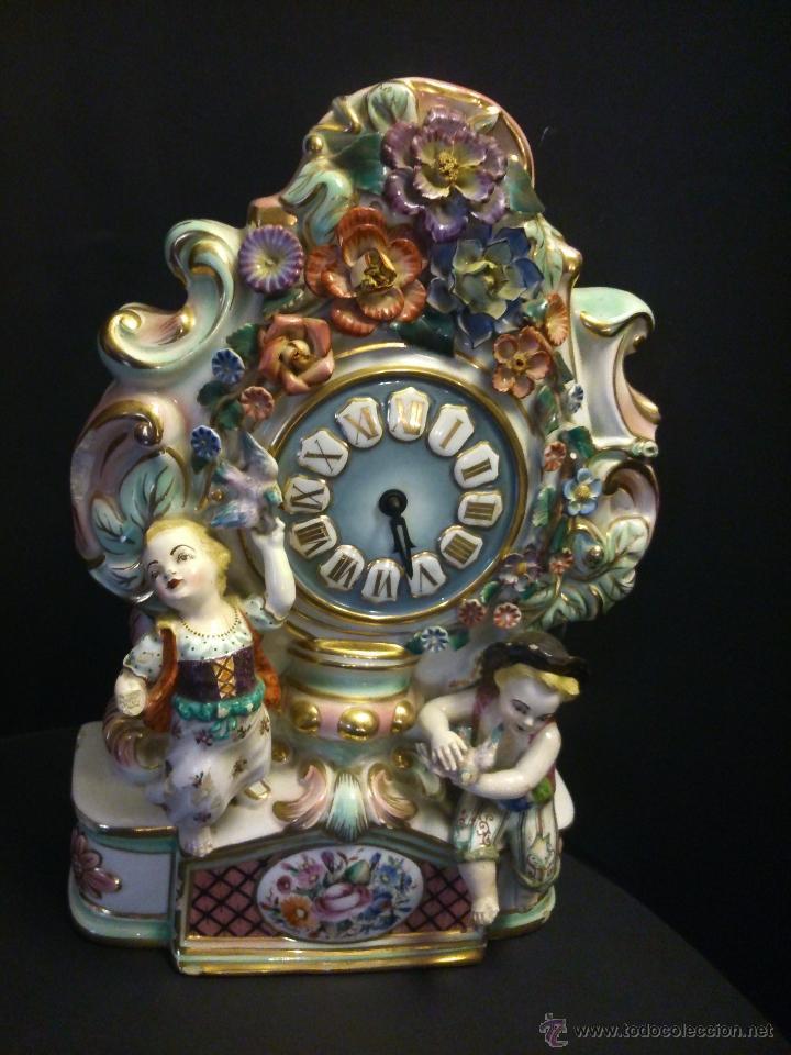 Relojes de carga manual: * ANTIGUO RELOJ DE PORCELANA(RF:BV/*) - Foto 7 - 49520048