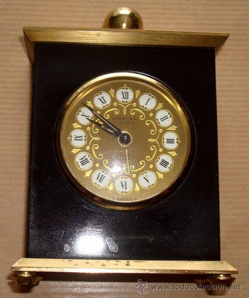 Relojes de carga manual: RELOJ DESPERTADOR DE SOBREMESA SUIZO MARCA ¨LOOPING¨ - Foto 2 - 49844779