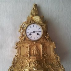 Relojes de carga manual: RELOJ BRONCE DORADO CON CRISTO. Lote 49883004