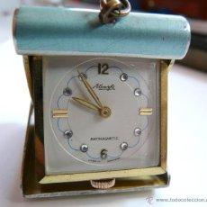 Relojes de carga manual: ANTIGUO RELOJ DE VIAJE DE MUJER KIENZLE - CAJA ESMALTE - RARISIMO!. Lote 50442522