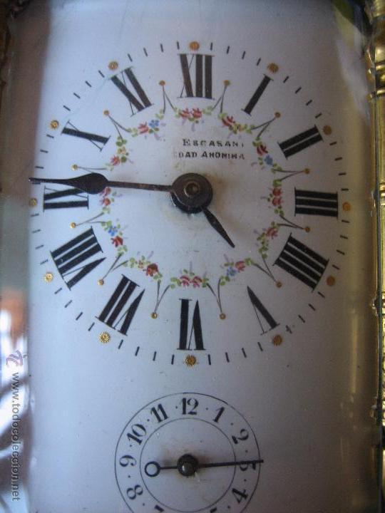 Relojes de carga manual: Reloj de sobremesa dorado francés. French gilded clock. - Foto 3 - 51158252