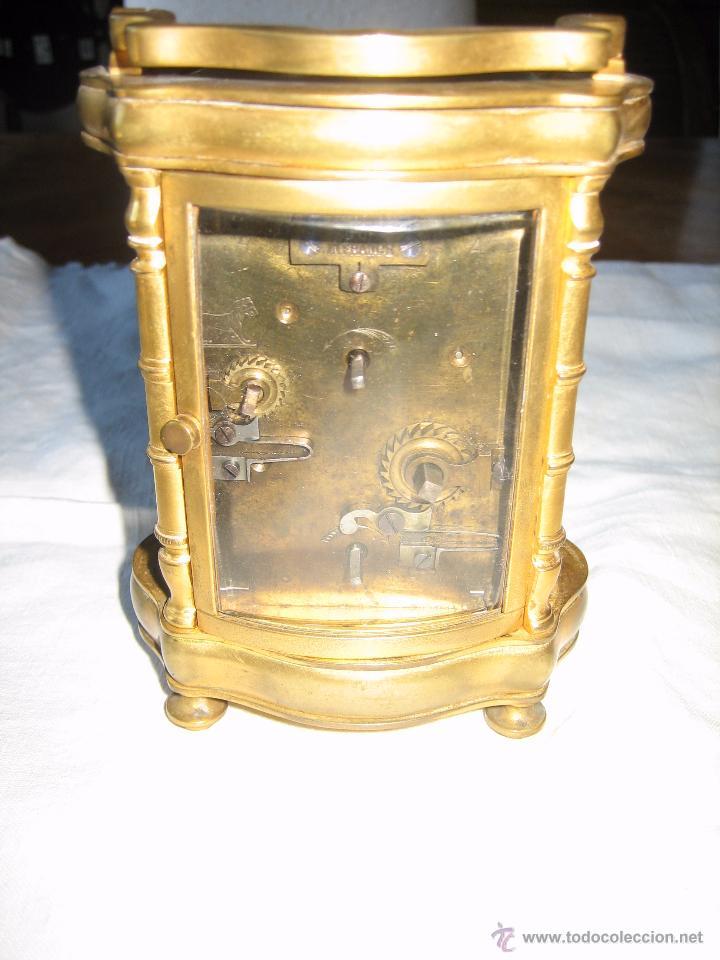 Relojes de carga manual: Reloj de sobremesa dorado francés. French gilded clock. - Foto 8 - 51158252