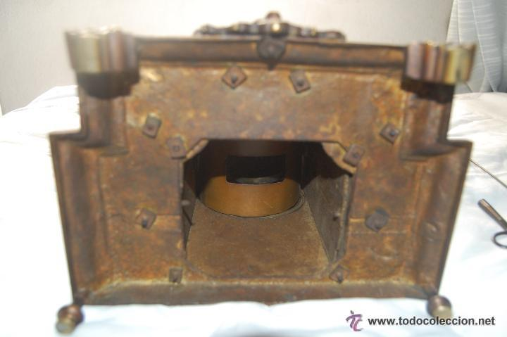 Relojes de carga manual: ANTIGUO RELOJ DE BRONCE CON CANDELABROS - Foto 10 - 51187239