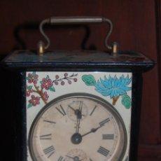 Relojes de carga manual: ANTIGUO RELOJ DESPERTADOR ESMALTADO FUNCIONANDO. Lote 51187323