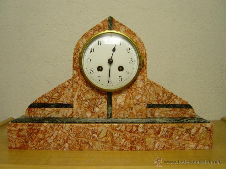 RELOJ SOBREMESA PRINCIPIOS SIGLO XX. EPOCA ART-DECO O CHARLESTON. (Relojes - Sobremesa Carga Manual)