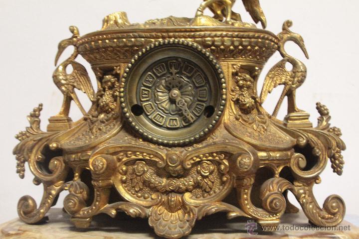 Relojes de carga manual: MAGNIFICO Y GRAN RELOJ DE MAQUINARIA A CUERDA. FUNCIONANDO. MUY PESADO. EN BRONCE Y PEANA DE MARMOL - Foto 4 - 51431389