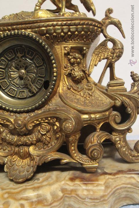 Relojes de carga manual: MAGNIFICO Y GRAN RELOJ DE MAQUINARIA A CUERDA. FUNCIONANDO. MUY PESADO. EN BRONCE Y PEANA DE MARMOL - Foto 6 - 51431389