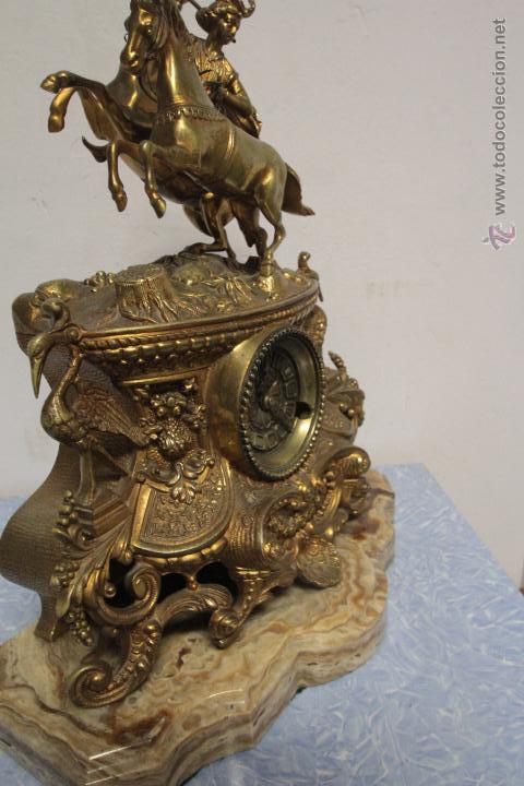 Relojes de carga manual: MAGNIFICO Y GRAN RELOJ DE MAQUINARIA A CUERDA. FUNCIONANDO. MUY PESADO. EN BRONCE Y PEANA DE MARMOL - Foto 7 - 51431389