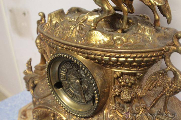 Relojes de carga manual: MAGNIFICO Y GRAN RELOJ DE MAQUINARIA A CUERDA. FUNCIONANDO. MUY PESADO. EN BRONCE Y PEANA DE MARMOL - Foto 9 - 51431389