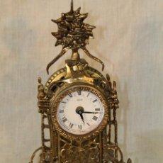 Relojes de carga manual: RELOJ QUARTZ DE SOBREMESA EN BRONCE. Lote 51496187
