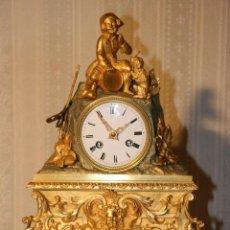Relojes de carga manual: RELOJ DORMITORIO III IMPERIO, BRONCE DORADO AL MERCURIO. Lote 51769099