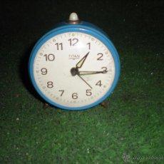 Relojes de carga manual: RELOJ DE MESA TITAN D 7CM. Lote 52478540