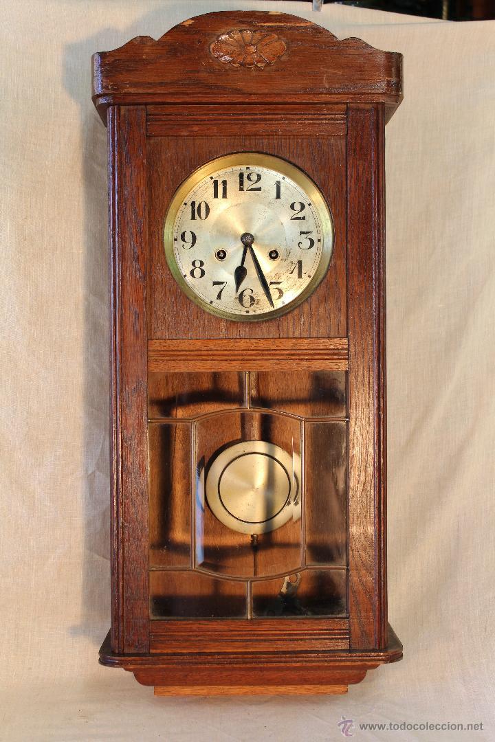 Reloj de pared antiguo en madera comprar relojes antiguos de sobremesa carga manual en - Relojes pared antiguos ...