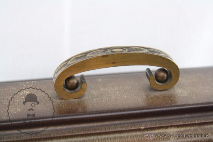 Relojes de carga manual: Antiguo Reloj de Sobremesa Franz Hermle & Sohn / FHS con Caja de Madera - Funcionando / Restauración - Foto 7 - 52726194