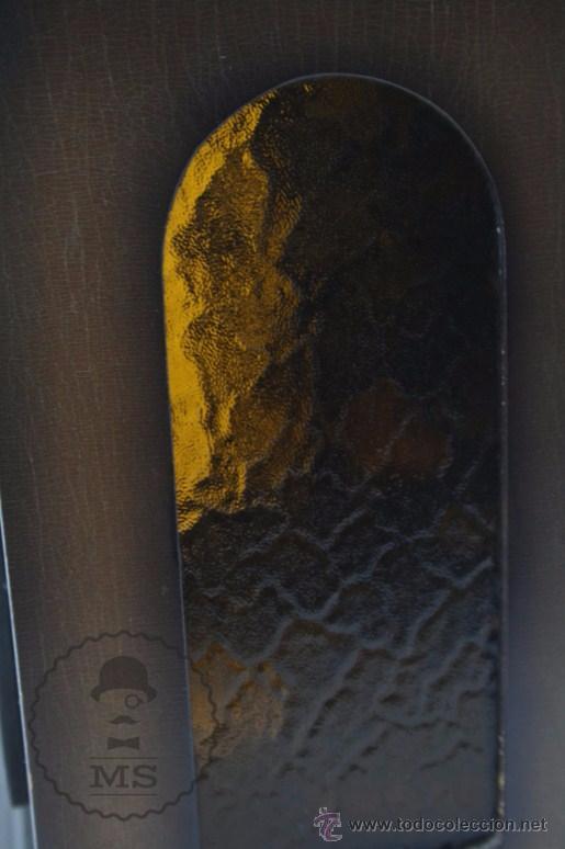 Relojes de carga manual: Antiguo Reloj de Sobremesa Franz Hermle & Sohn / FHS con Caja de Madera - Funcionando / Restauración - Foto 17 - 52726194