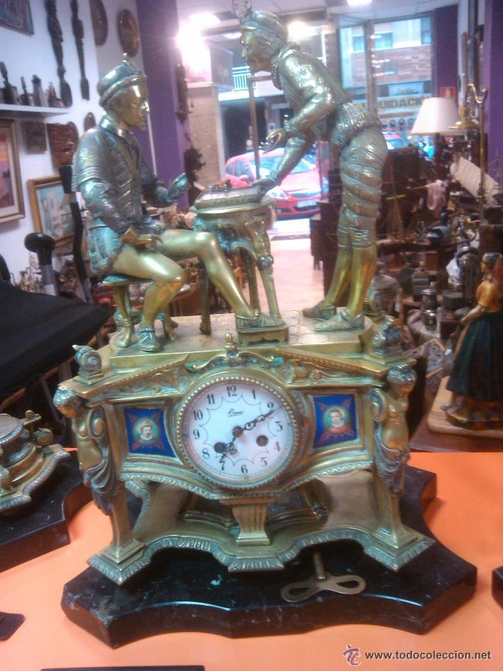 ANTIGUO MAGNIFICO RELOJ SOBREMESA PALACIEGO GUARNICION BRONCE 15220.EUROS PRECIO DIRECTO (Relojes - Sobremesa Carga Manual)