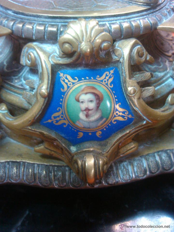 Relojes de carga manual: ANTIGUO MAGNIFICO RELOJ SOBREMESA PALACIEGO GUARNICION BRONCE 15220.EUROS PRECIO DIRECTO - Foto 3 - 52884922