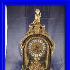 Relojes de carga manual: FANTASTICO RELOJ BOULLE CON MARQUETERIA METALICA. NUMEROS DE PORCELANA. LUIS XIV.. Lote 27149558