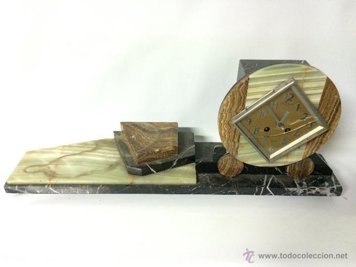EPOCA ART DECO-MARMOL-BRONCE C.1930-PARIS. (Relojes - Sobremesa Carga Manual)