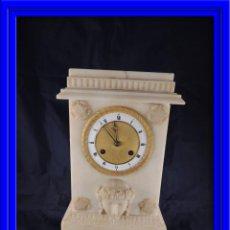 Relojes de carga manual: RELOJ DE SOBREMESA ALABASTRO SEGUNDO IMPERIO. Lote 53160583