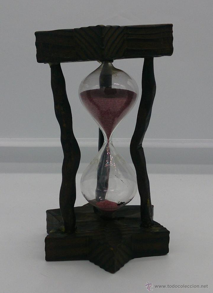 Reloj de arena antiguo en madera y cristal de comprar for Fotos de reloj de arena