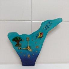 Relojes de carga manual: RELOJ DE SOBREMESA CON IMAGEN DE TENERIFE.. Lote 53220013