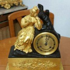 Relojes de carga manual: RELOJ DE SOBREMESA IMPERIO SIGLO XIX, MAQUINARIA PARIS CON SUSPENSIÓN DE HILO. Lote 50877256