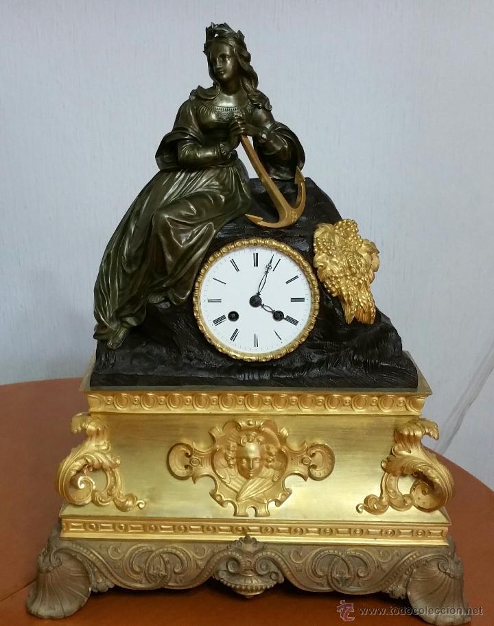 Bonito reloj de sobremesa en bronce dorado y pa comprar - Relojes de sobremesa antiguos ...