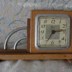Relojes de carga manual: RELOJ DESPERTADOR ART DÉCO MARCA DEP. MADE IN FRANCE. Lote 53915640