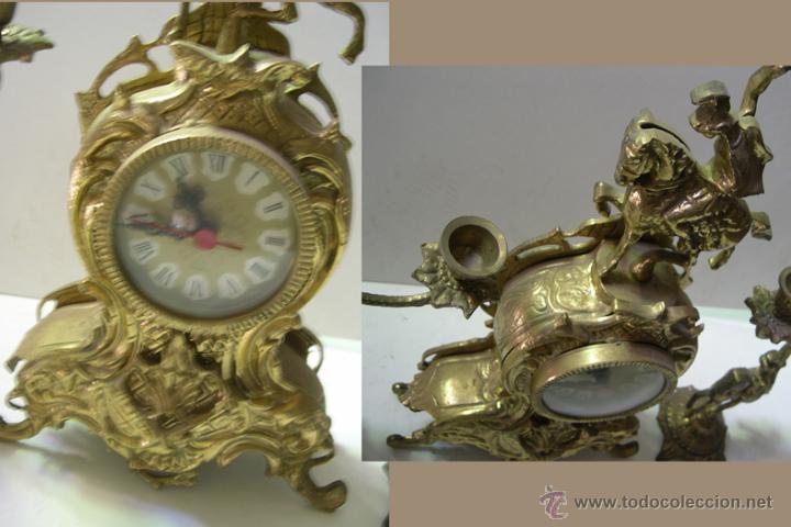 Relojes de carga manual: RELOJ CON DOS CANDELABROS - Foto 2 - 54065397