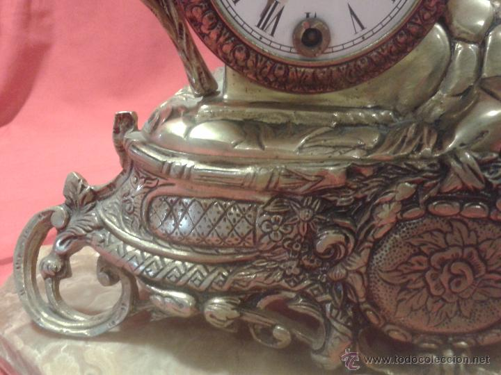 Relojes de carga manual: Reloj alemán de bronce con peana de mármol y carga manual - Foto 3 - 54325619