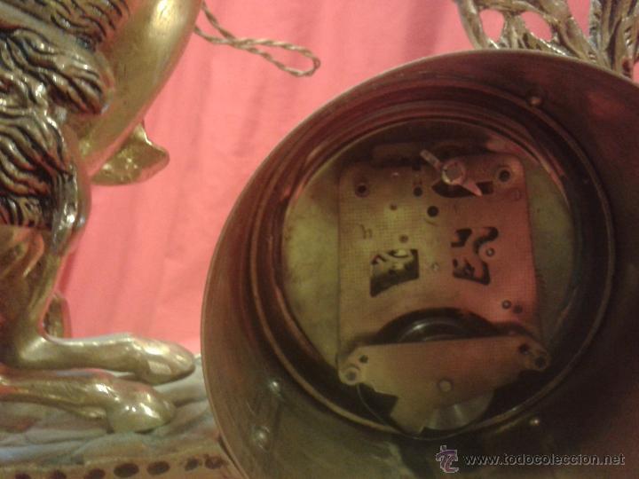 Relojes de carga manual: Reloj alemán de bronce con peana de mármol y carga manual - Foto 7 - 54325619