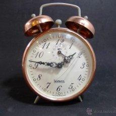 Relojes de carga manual: ANTIGUO DESPERTADOR DE CAMPANAS DE LA MARCA HERWEG. Lote 54341933
