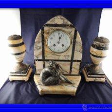 Relojes de carga manual: RELOJ DE EPOCA ART DECO CON COPAS Y FIGURA ART NOUVEAU. Lote 54391811