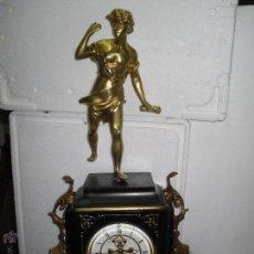 Relojes de carga manual: RELOJ DE MARMOL Y BRONCE. Lote 54569271
