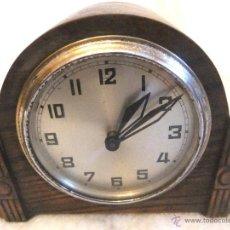 Relojes de carga manual: ANTIGUO RELOJ FOREIG DE SOBREMESA MADERA MACIZA FABRICADO EN INGLATERRA. Lote 54764503