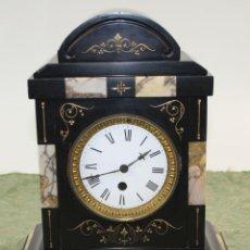 Relojes de carga manual: RELOJ DE SOBREMESA. MÁRMOL TALLADO. FRANCÍA. SIGLO XIX. Lote 52835644