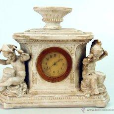 Relojes de carga manual: RELOJ DE SOBREMESA. BISCUIT. DETALLES EN ORO. FRANCIA. XIX-XX.. Lote 48572915
