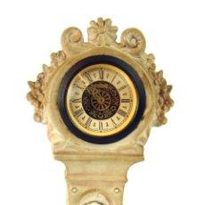 Relojes de carga manual: RELOJ DE SOBREMESA. BISCUIT. DETALLES EN ORO. FRANCIA. XIX-XX.. Lote 206293392
