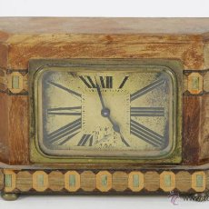 Relojes de carga manual: RELOJ DE SOBREMESA EN MADERA. ESTILO ART DECO. MADE IN FRANCE. CIRCA 1940.. Lote 54919264