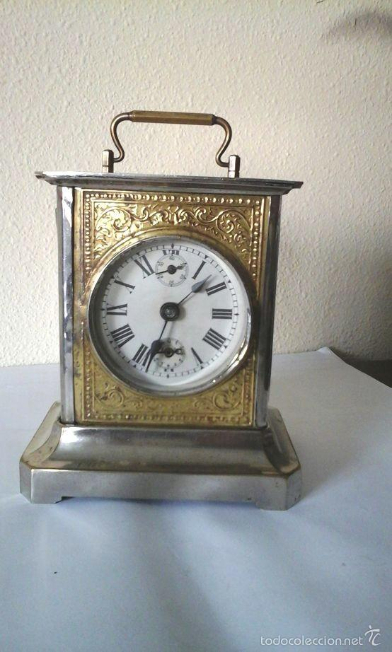 RELOJ DE CARRUAJE FUNCIONANDO (Relojes - Sobremesa Carga Manual)