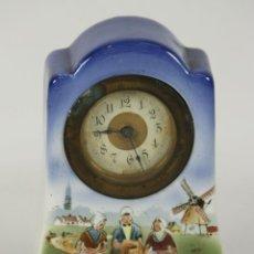 Relojes de carga manual: RELOJ DE SOBREMESA. PORCELANA ESMALTADA. ART NOUVEAU. AUSTRIA?. PRINCIPIOS SIGLO XX.. Lote 55169488