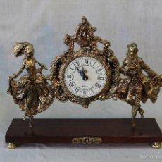Relojes de carga manual: RELOJ DE SOBREMESA QUARTZ EN BRONCE . Lote 55254869