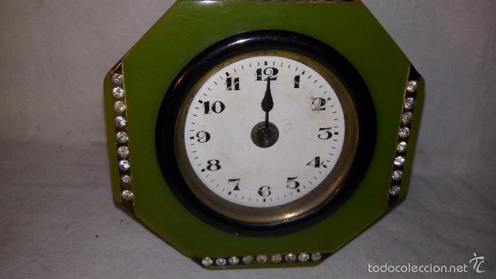Relojes de carga manual: L150 ANTIGUO Y ELEGANTE RELOJ SOBREMESA EPOCA ART-DECO, A CUERDA, FUNCIONA 5X8X8 - Foto 2 - 55384166