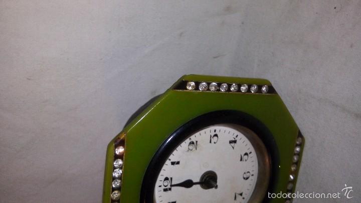Relojes de carga manual: L150 ANTIGUO Y ELEGANTE RELOJ SOBREMESA EPOCA ART-DECO, A CUERDA, FUNCIONA 5X8X8 - Foto 3 - 55384166