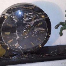 Relojes de carga manual: L150 ANTIGUO Y ELEGANTE RELOJ SOBREMESA ORIGINAL EPOCA ART-DECO, FUNCIONAMIENTO A CUERDA, 7X22X37. Lote 55384463
