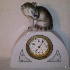 Relojes de carga manual: L150 ANTIGUO Y ELEGANTE RELOJ SOBREMESA ORIGINAL EPOCA ART-DECO, FUNCIONAMIENTO A CUERDA, 5X16. Lote 55384856