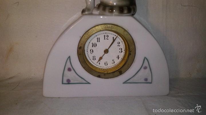 Relojes de carga manual: L150 ANTIGUO Y ELEGANTE RELOJ SOBREMESA ORIGINAL EPOCA ART-DECO, FUNCIONAMIENTO A CUERDA, 5x16 - Foto 2 - 55384856