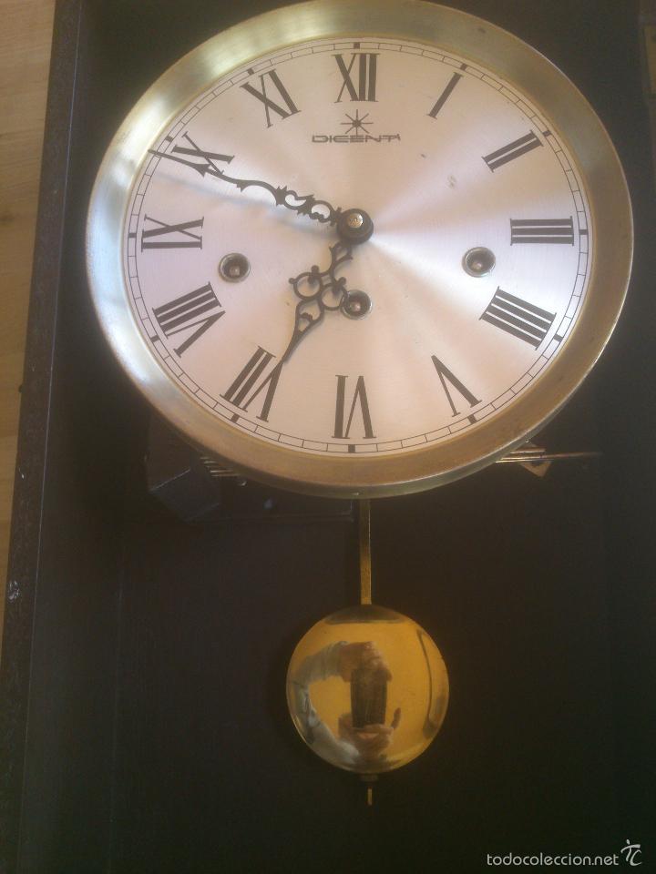 Relojes de carga manual: RELOJ DE PARED SONORO DE TRES CUERDAS MARCA DICENTI ALEMAN - Foto 8 - 56045289