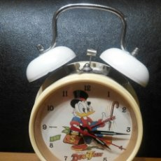 Relojes de carga manual: RELOJ DESPERTADOR DISNEY DUCTAILS EN PERFECTO ESTADO FUNCINANDO. Lote 56576525